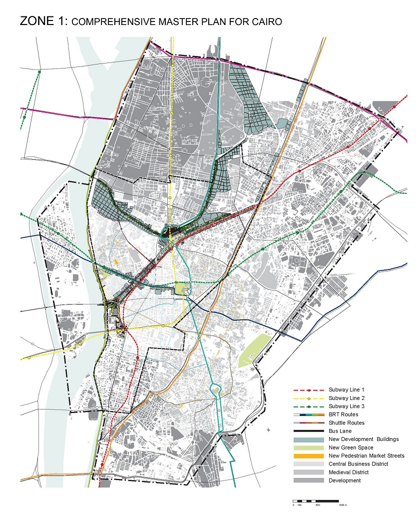 Dave stasiuk archive ramses square cairo master plan for Zone plan